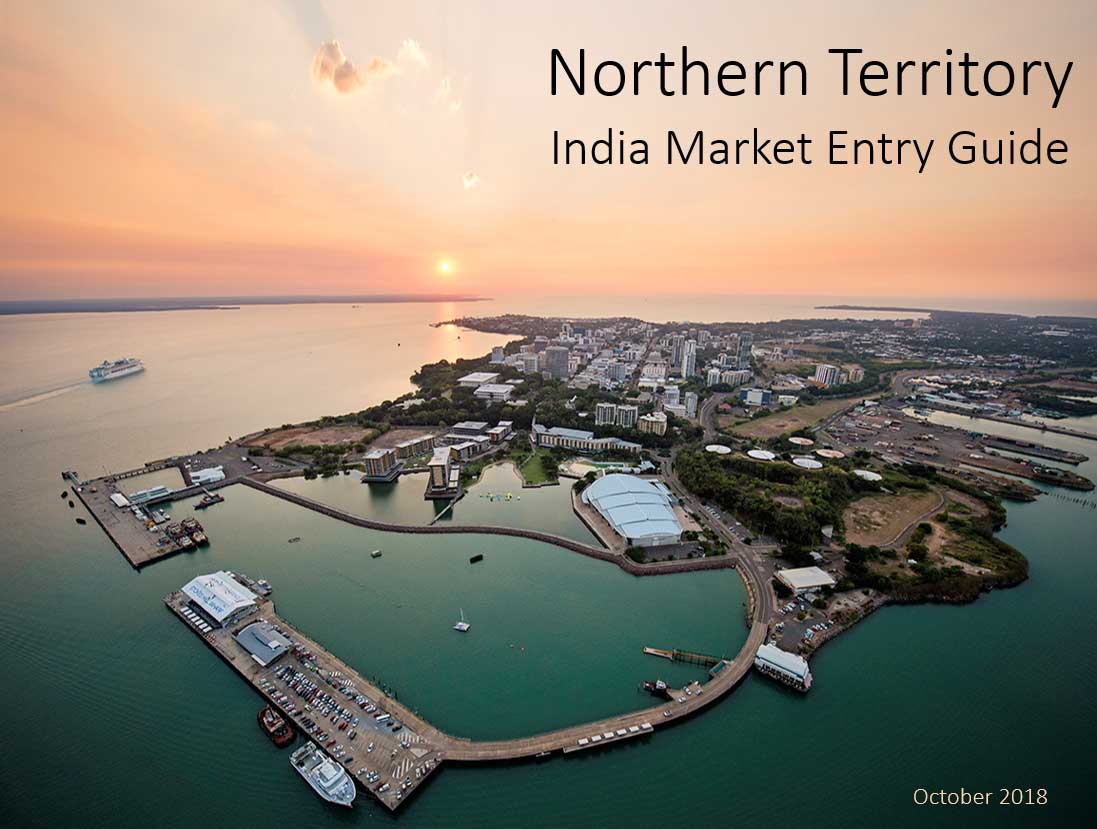 Northern Territory India market entry guide, aerial view of Darwin city