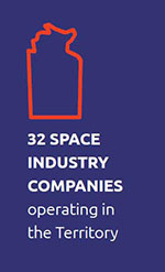 Thirty-two space industry companies operating in the Territory