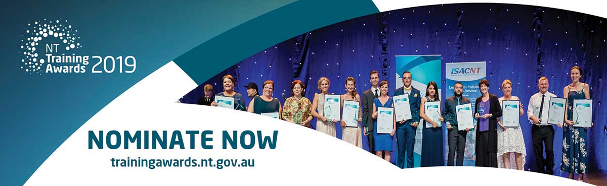 NT Training Awards 2019, nominate now, training awards.nt.gov.au
