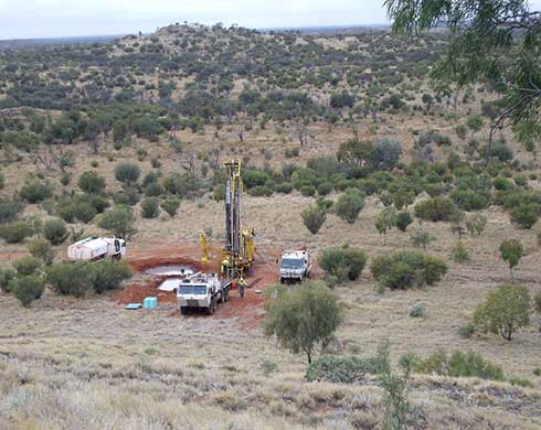 View of land based drilling site