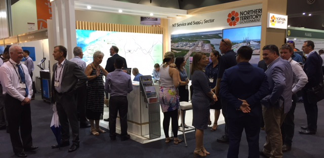 Exhibition stand at Australian Oil and Gas Expo