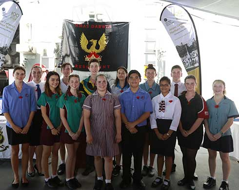 Group shot of the 15 winning students of the 2018 Anzac Spirit Study Tour