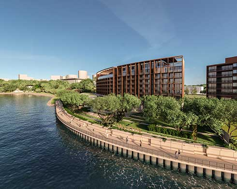 Concept drawing of the proposed luxury hotel in Darwin