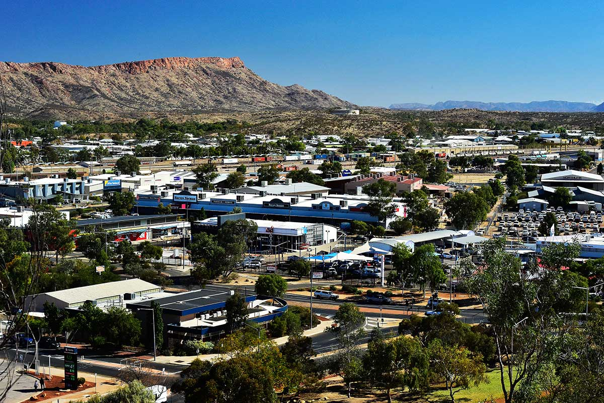 Aerial view of Alice Springs