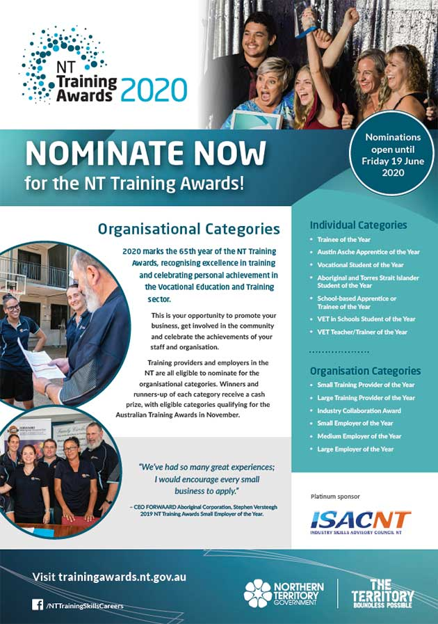 NTTA organisation nominate now poster