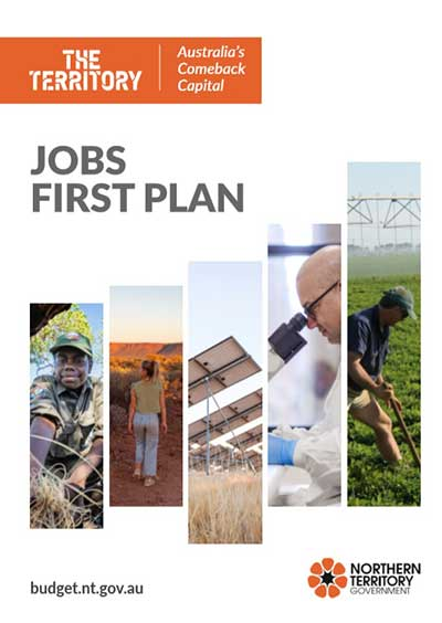 Jobs First Plan cover page