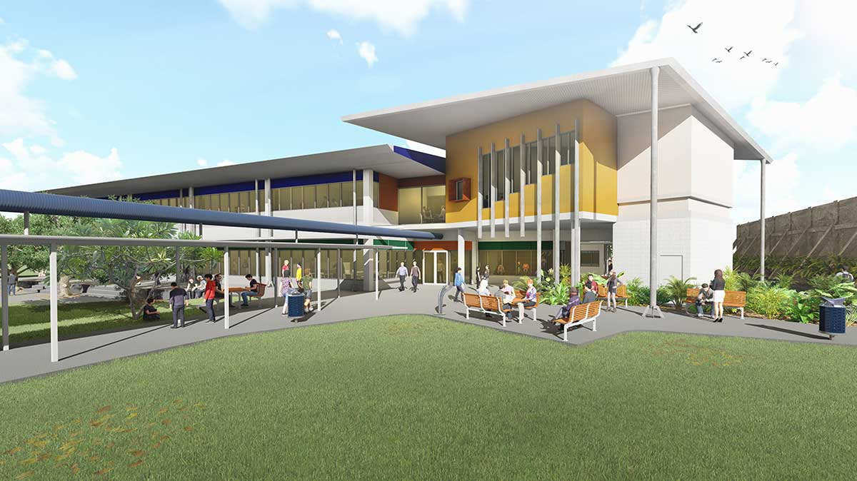 Artist impression of the STEAM Centre at Darwin High School