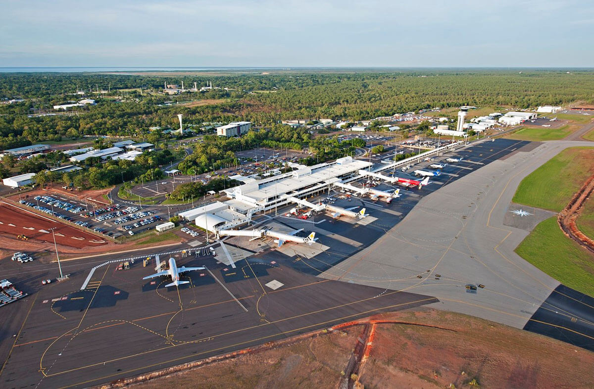 Birds-eye view of NT airport