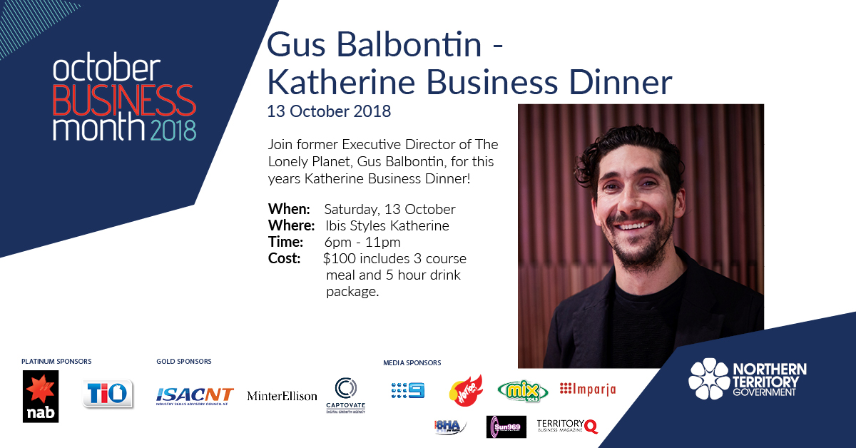 Gus Balbontin, OBM Katherine Business Dinner, 13 October 2018