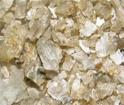 Close up of lithium ore