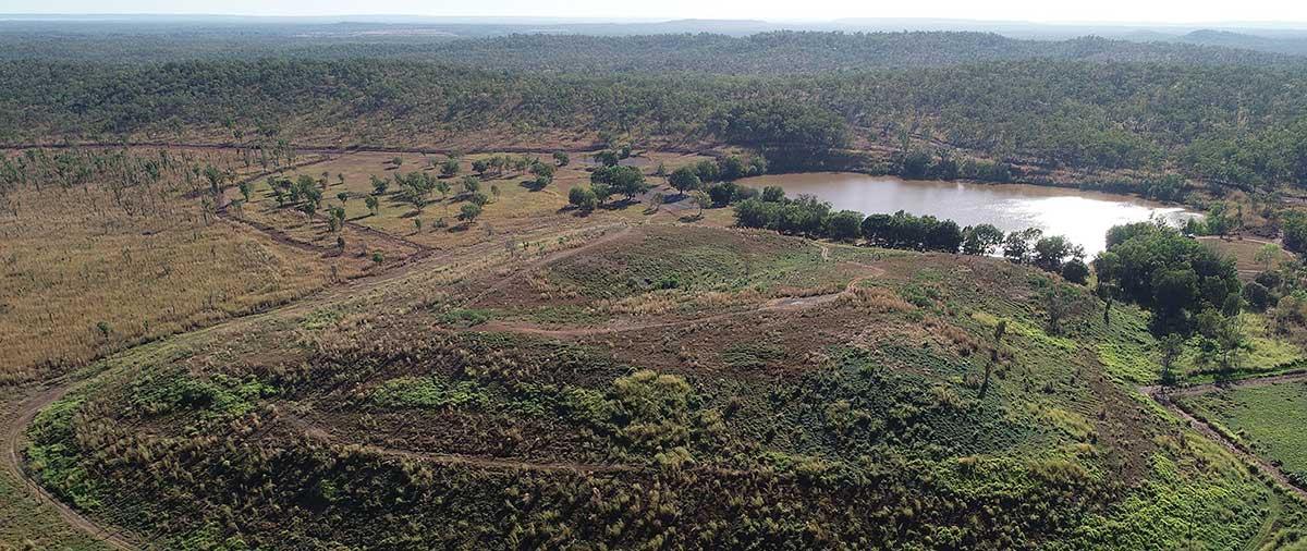 Aerial view of Rum Jungle