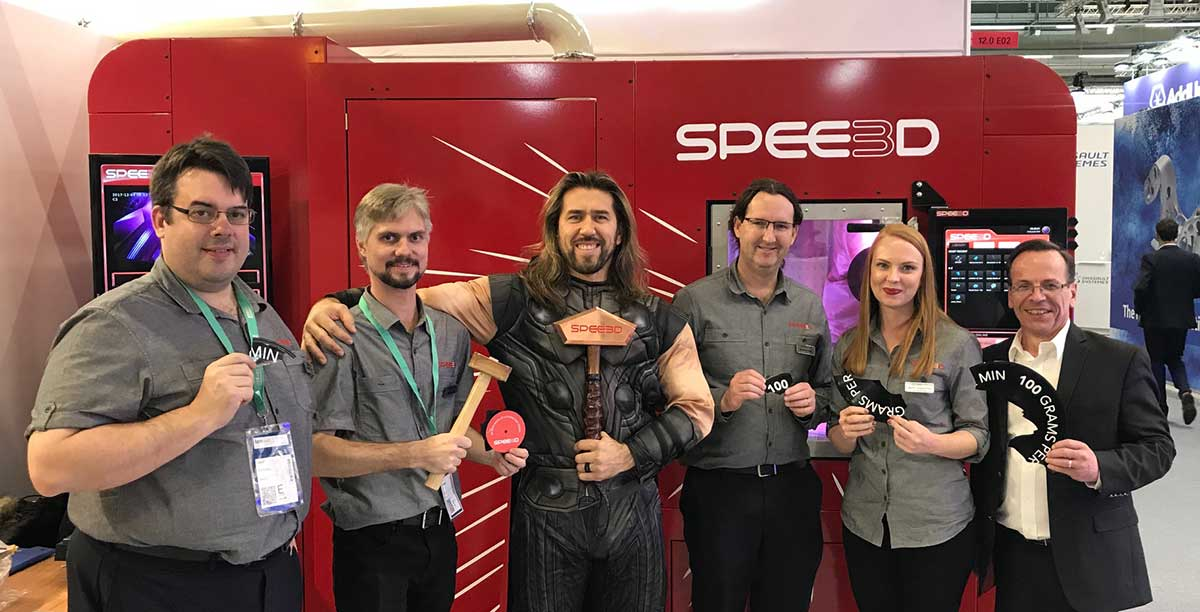 SPEE3D team at an exhibition in Germany