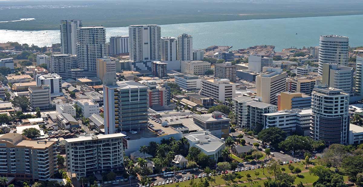 Aerial view of Darwin City