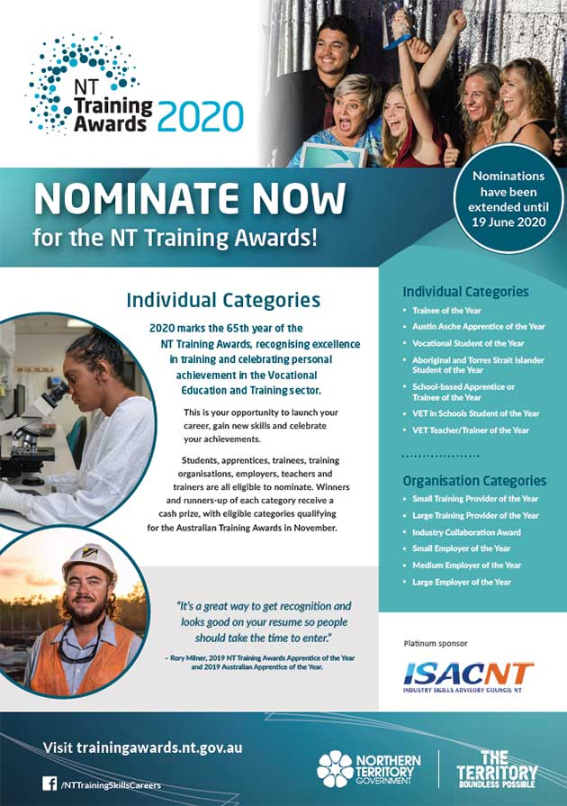 NTTA individual nominate now poster