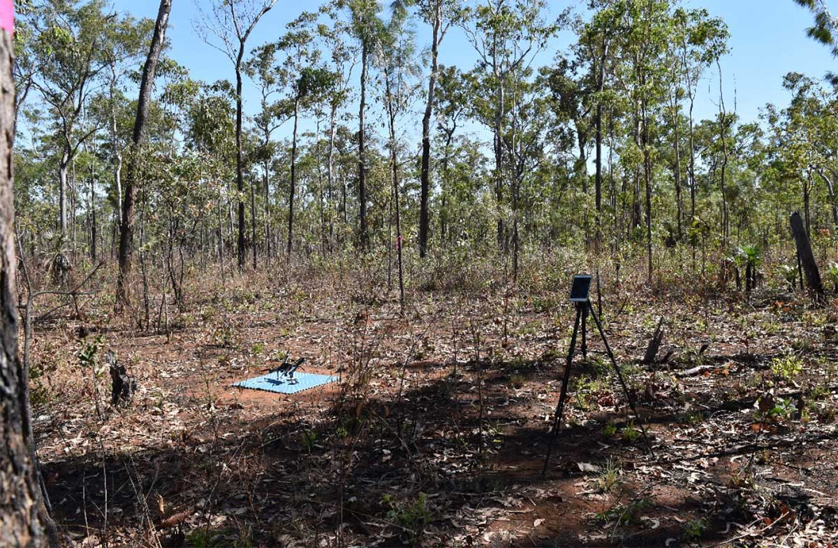 Equipment collecting calibration / validation data in remote bush location