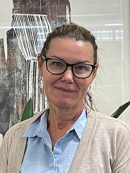 Portrait shot of Lynda Coates