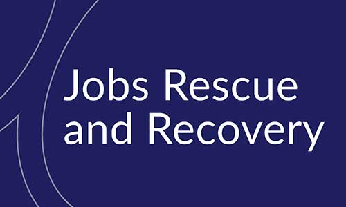Business update: Jobs Rescue and Recovery plan