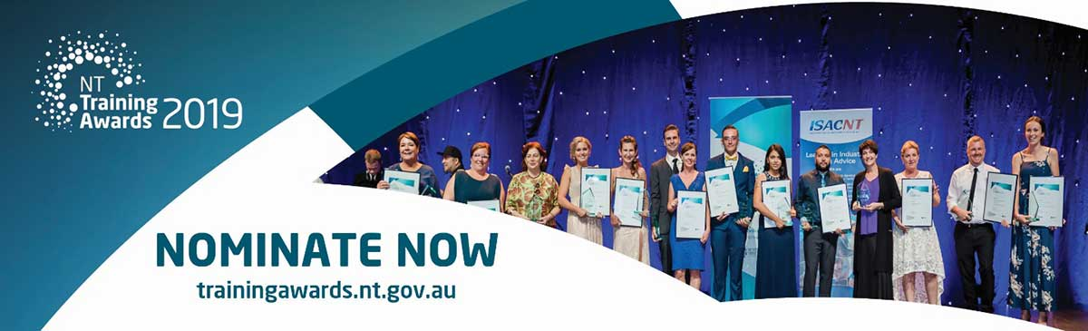 NT Training Awards 2019, nominate now, trainingawards.nt.gov.au