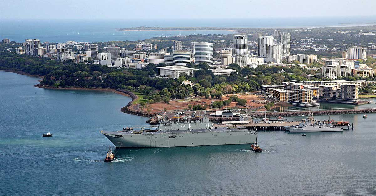 HMS Adelaide in Darwin harbour