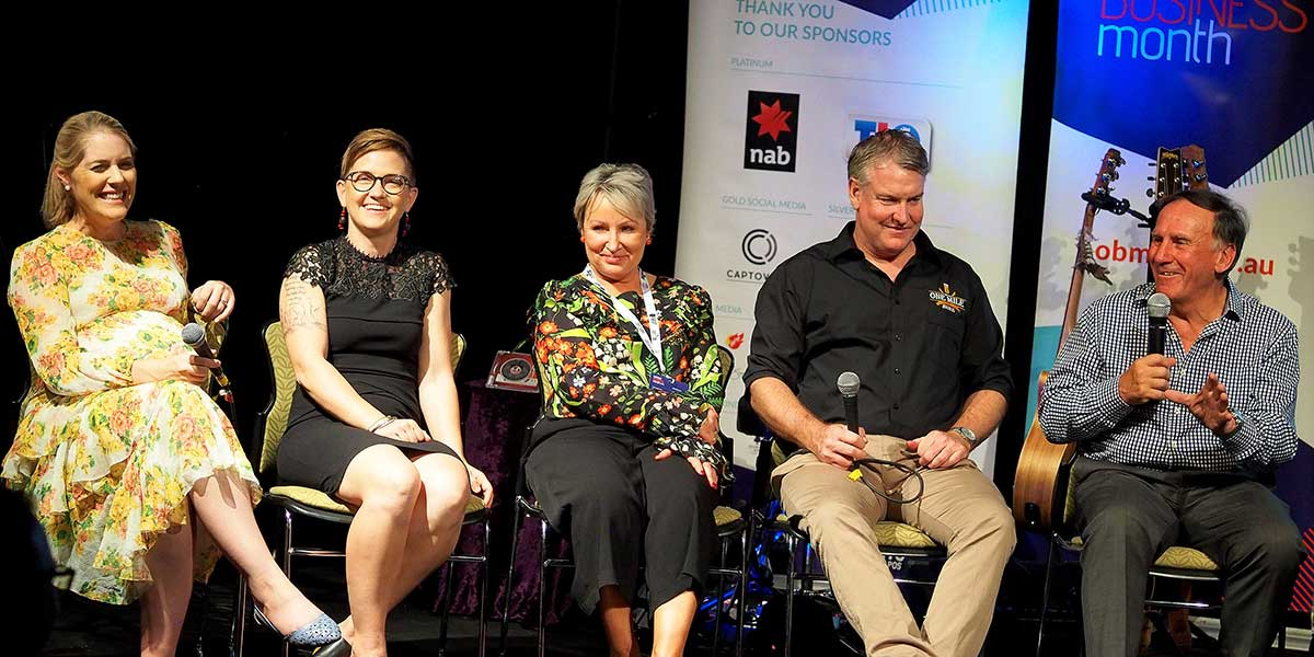 Local business panel discussion at OBM's Katherine Business Dinner