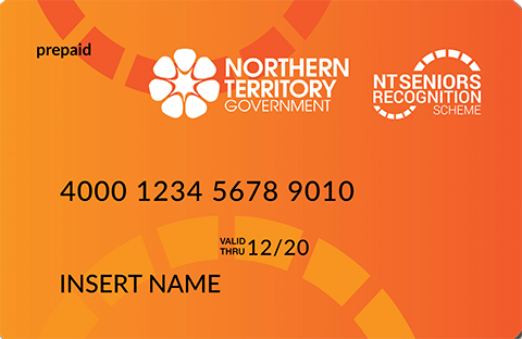 Example of the NT Seniors Recognition Scheme prepaid card