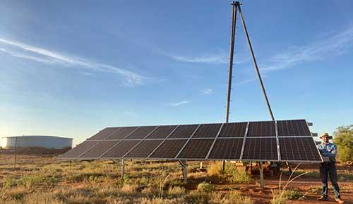 Solar-power bore