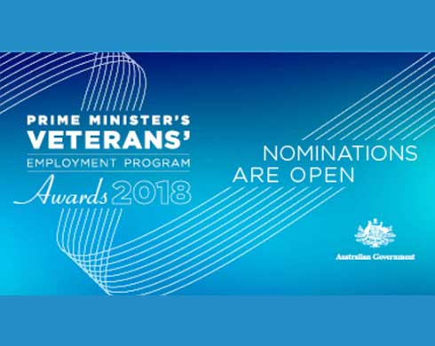 Prime Minister's Veterans' Employment Program Awards 2018, nominations are open