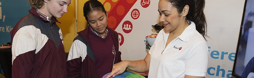 School children attending a Skills, Employment and Career Expo