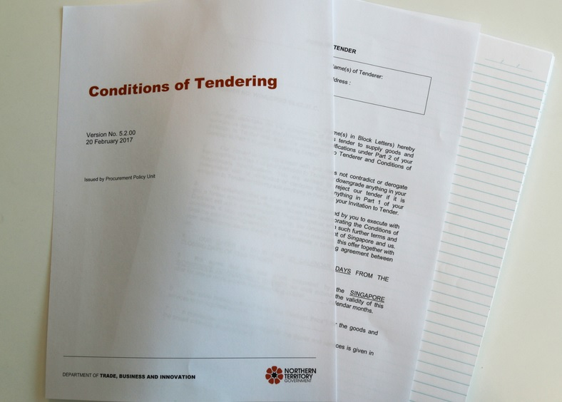 Conditions of Tendering document