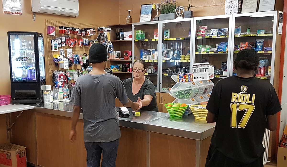 Customers in a community shop
