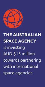 The Australian Space Agency is investing AUD $15 million towards partnering with international space agencies