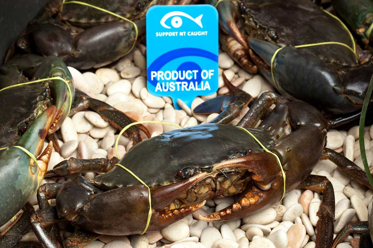 Crab, support NT caught, product of Australia