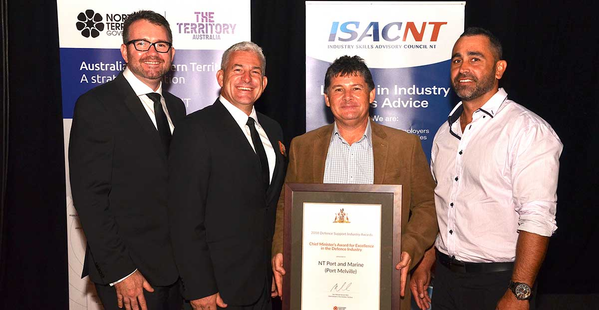 Group shot of NT Port and Marine received their Award for Excellence in the Defence Industry