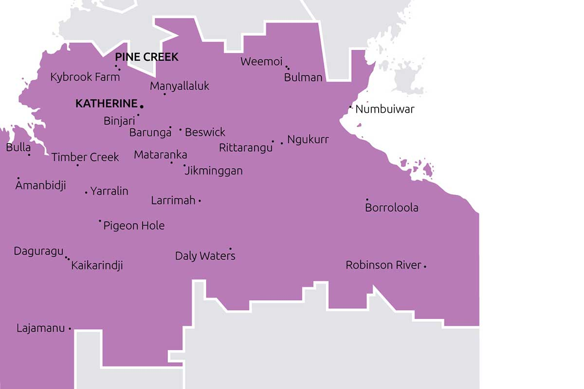 Boundaries and towns that Big Rivers TBC service.
