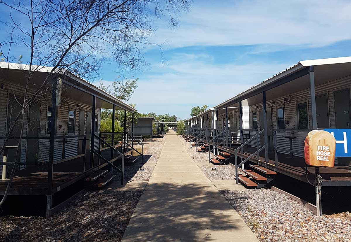 Accommodation units at the Howard Springs Accommodation Village